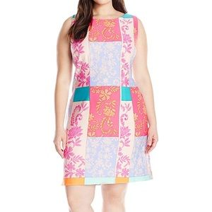 Taylor Dress Size 24 Multi Patchwork Sheath Plus